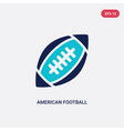 two color american football icon from concept vector image