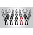 Unusual person in the crowd Leadership vector image