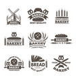 vintage bakery labels set logo template in vector image vector image