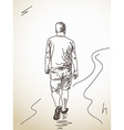 walking man from back vector image vector image