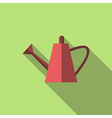 Watering can long shadow vector image vector image