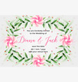 wedding card design with lovely flower decoration vector image vector image
