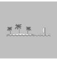 Island computer symbol vector image