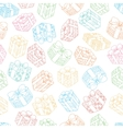 Hand drawn seamless pattern with gift boxes vector image