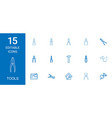 15 tools icons vector image vector image