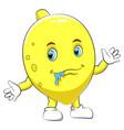 a cartoon cute lemon character vector image