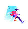 a running man a bright and harezmatic character vector image vector image
