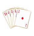 ace diamonds flush vector image vector image