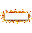 autumn banner with orange leaves vector image vector image
