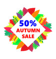 autumn sale design banner with colored vector image