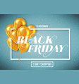 banner for black friday sale with handdrawn vector image vector image