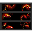 Banner with fire circles vector image vector image