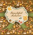 beautiful autumn brown background vector image