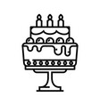 big cake line icon concept sign outline vector image