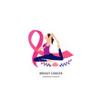 breast cancer awareness with ribbon vector image vector image