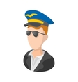 Captain of the aircraft cartoon icon vector image vector image