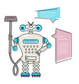 cartoon cute chat bot cleaner vector image vector image