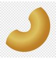 chifferi pasta mockup realistic style vector image vector image