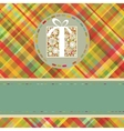 Christmas tartan background EPS 8 vector image