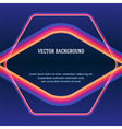 colored frame dark blue background vector image vector image