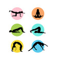 colorful yoga logo template vector image vector image