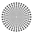 concentric dots in circular form abstract vector image vector image