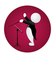 Conductor standing front music stand vector image vector image