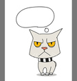 Cool sad cat vector image