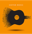 creative abstract guitar background vector image vector image