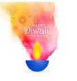 Creative diwali festival background with colors