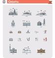 croatia travel icon set vector image vector image