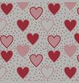 cute pink hearts vector image