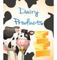 Dairy product vector image