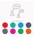 Dialog icon Chat speech bubbles sign vector image vector image