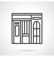 Dishes shop facade simple line icon vector image vector image