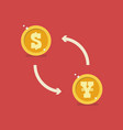 dollar and yen currency exchange vector image vector image