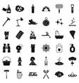 extinguisher icons set simle style vector image vector image