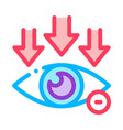 eye and arrows eyesight icon outline vector image