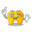 finger retro computer game control on mascot vector image vector image