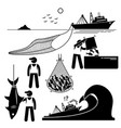 fisherman working on fishery industry at vector image