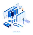 flat color modern isometric design - digital vector image vector image