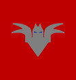 flat icon on background halloween bat vector image