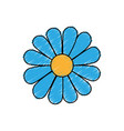 flower blossom flat icon vector image vector image