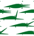 Funny green crocodile seamless pattern for your vector image