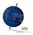 global network design concept vector image