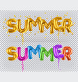 golden toy balloons summer 3d icon vector image