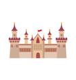 gothic ancient citadel powerful walls high vector image vector image