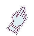 hand human index isolated icon vector image vector image