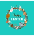 Happy easter 1 vector image