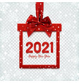 happy new year 2021 background square banner in vector image